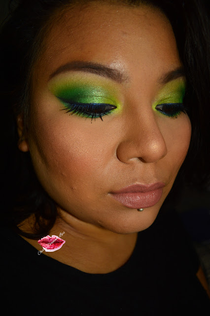 Green Chaos, Colour Chaos Makeup Revolution, Camden Town Neve Cosmetics, Maybelline New York, Beige a Nu #MyColorObsession, Contouring #101 Face Palette Sephora, Cherry Diamond Lips