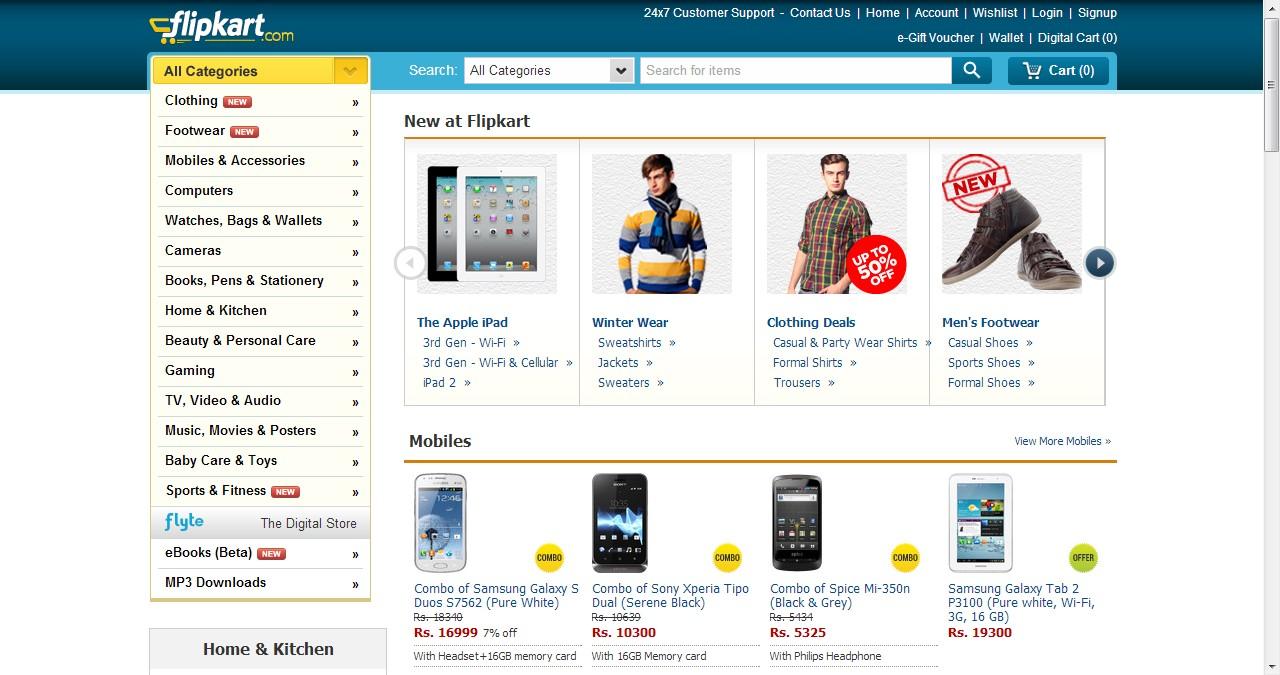 Desktop online shopping in india