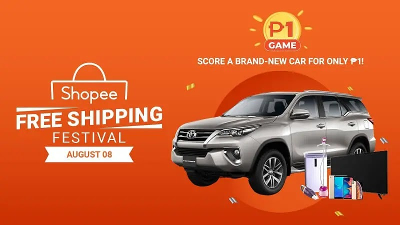 Get a chance to take home a brand-new car in Shopee's Php1 Game this 8.8