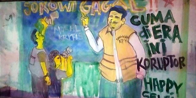 """Mural """"Jokowi Gagal!"""" Ada di TIM, Malam Dibuat tapi Paginya Dihapus Paksa"""