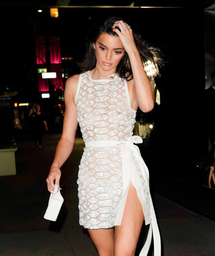 Kendall Jenner Wears Hot White Outfit