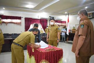 Wakil Wali Kota Sibolga Lantik Plt Kepala BPBD dan Plt 4 Camat