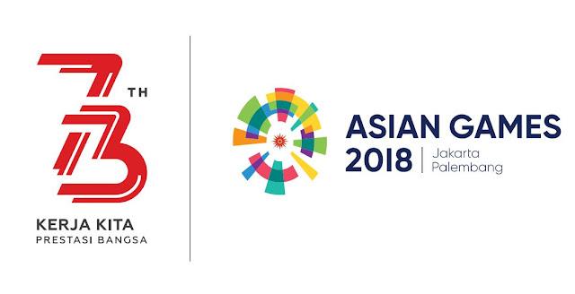 Logo Peringatan HUT Ke-73 Kemerdekaan RI Tahun 2018