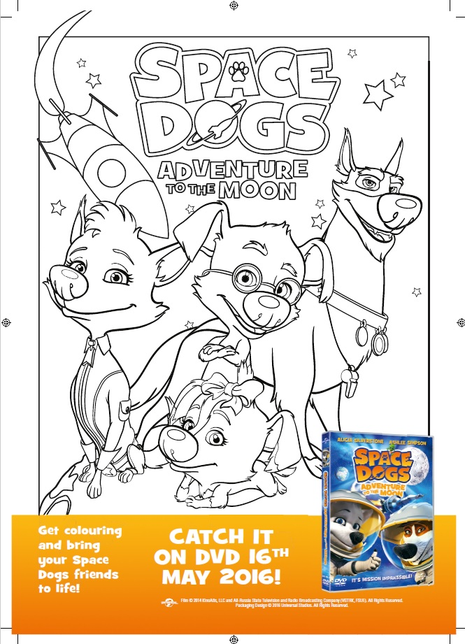 Space Dogs Adventure to the Moon DVD, DVD Giveaway, children animation