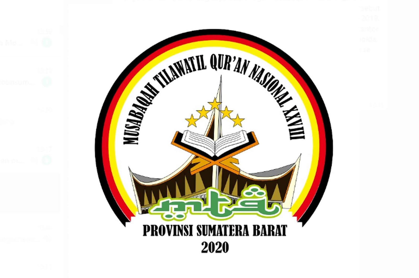 Logo MTQ Nasional ke XXVIII atau ke 28 Tahun 2020 Provinsi Sumatera Barat jadi tuan rumah