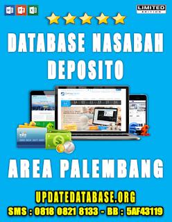 Jual Database Nasabah Deposito Palembang