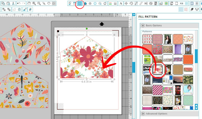 adding custom digital patterns silhouette studio tutorial silhouette cameo tutorial
