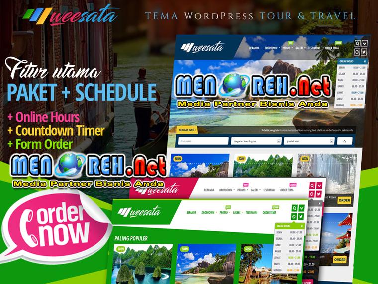 Contoh Desain Web Blog Pariwisata Menoreh Net Media Partner Bisnis