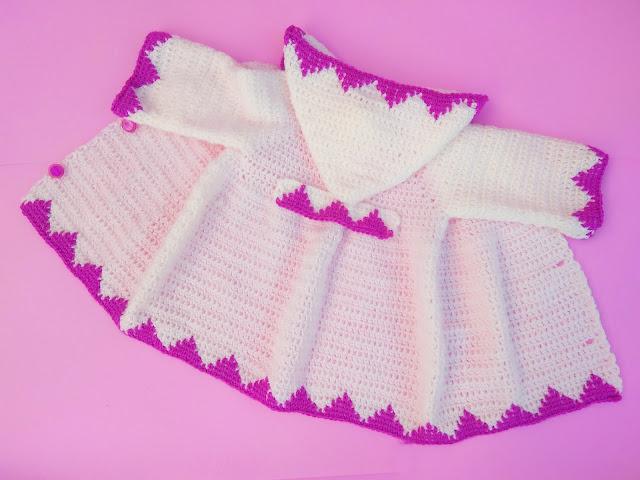 6 - Crochet Imagen Abrigo con capucha crochet parte 2 y ganchillo Majovel Crochet bareta puntada punto sencillo facil DIY canesu manga