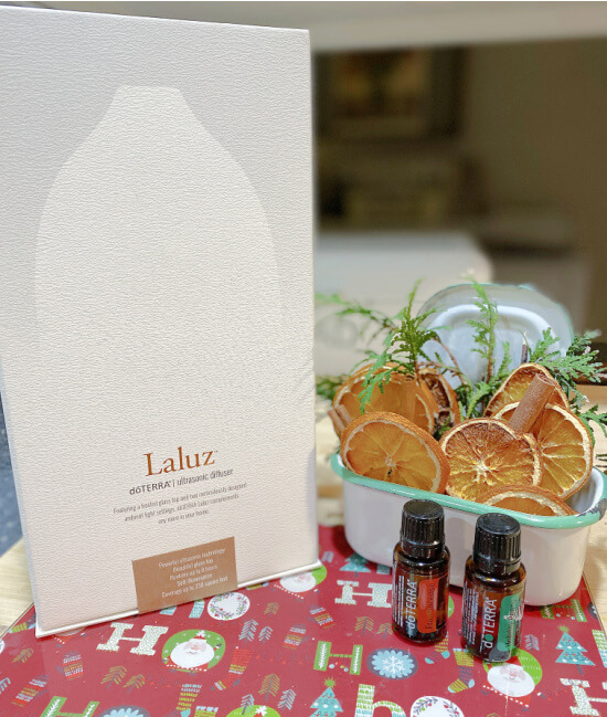 Diffuser packaged box and essential oils