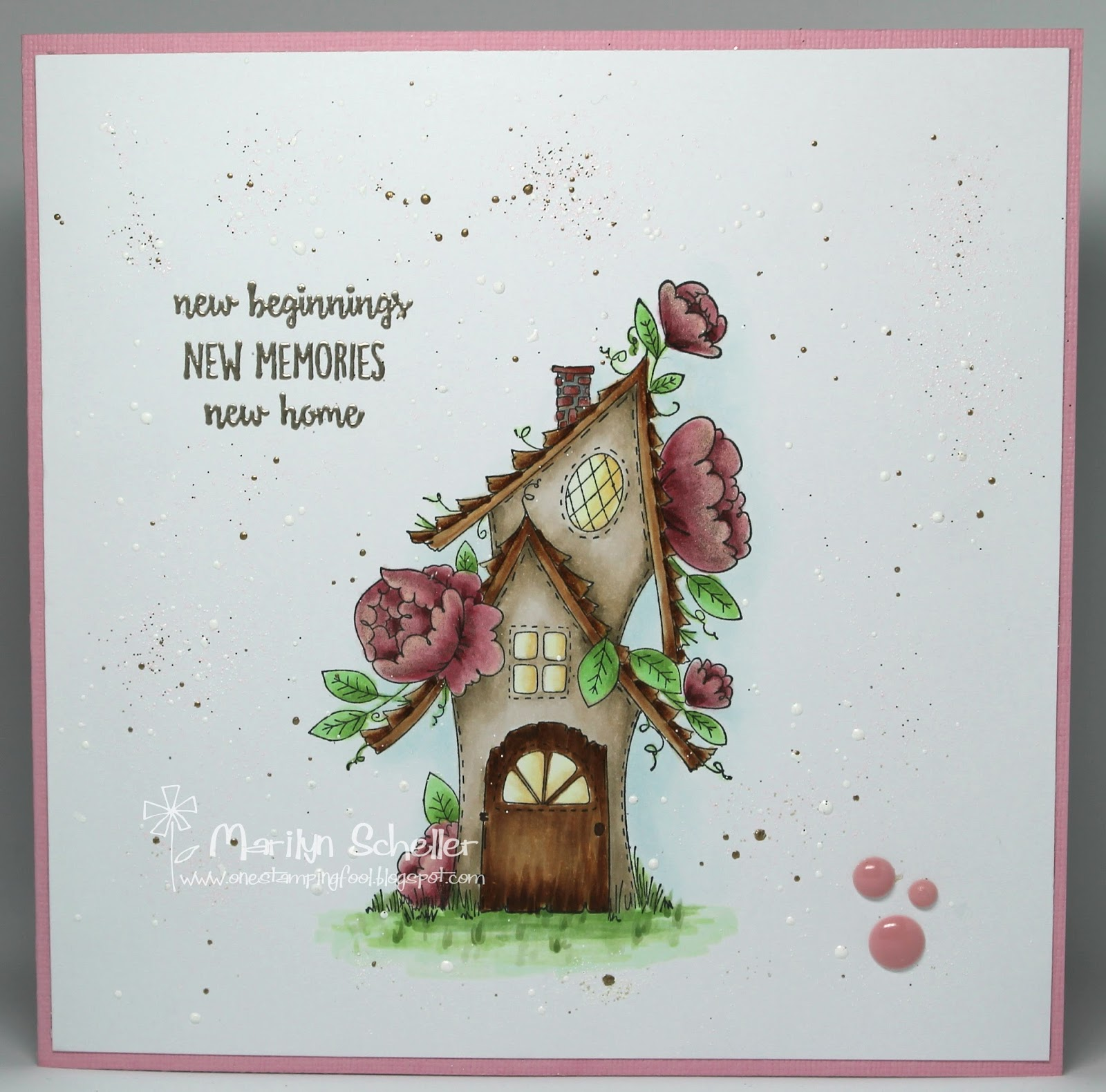 One Stamping Fool Fairy Garden House Stampingbella