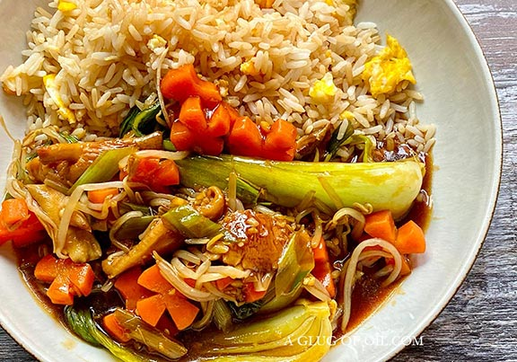 Vegetables in Chinese brown sauce