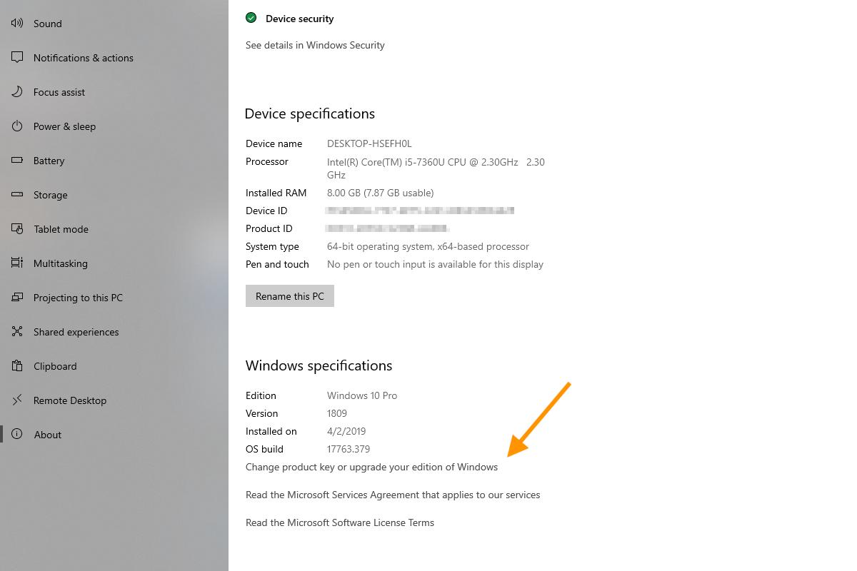 Come cambiare seriale su Windows 10