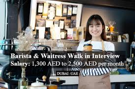 Barista Required in Dubai Location For Famous Restaurant