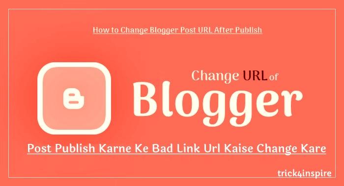 post publish karne ke bad link url kaise edit kare