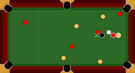 blackball pool rules balls off table
