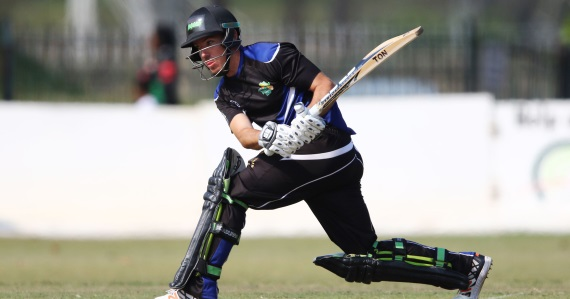 Kyle Nipper plays the reverse sweep - Hollywoodbets KZN Inland - Cricket - Africa T20 Cup - Credit: Game Plan Media