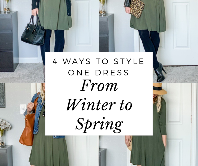 4 ways to style one dress- from summer to fall