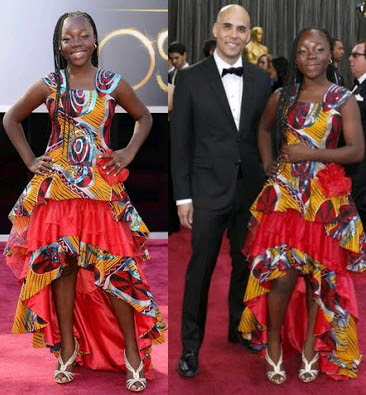 african actress wears ankara oscars 2013