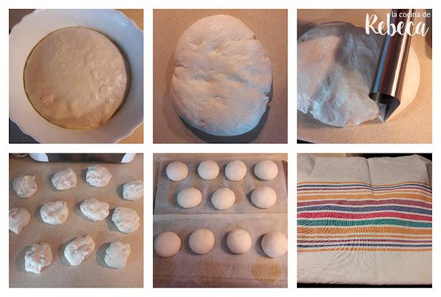 Receta de pan tipo mollete: boleado de los panes