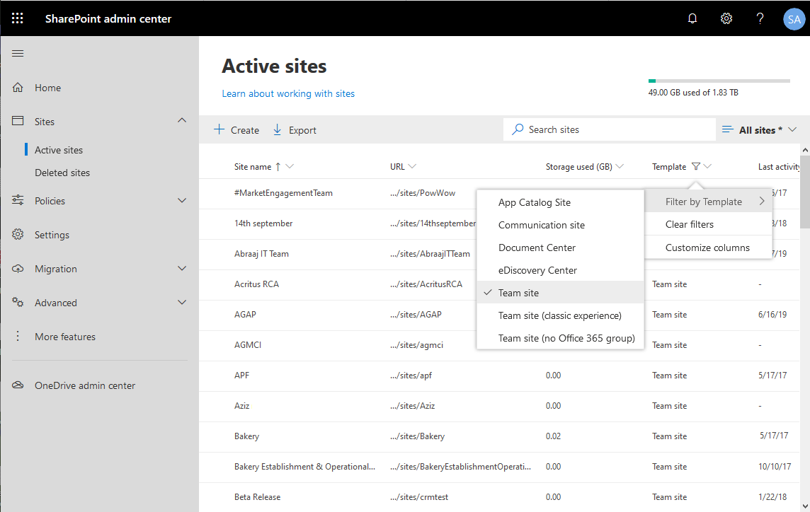 sharepoint online get modern team sites using powershell