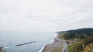 望洋台キャンプ場から日本海を臨む