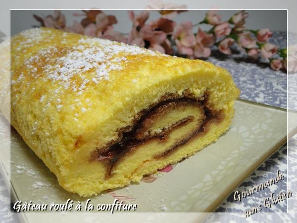 Gâteau roulé sans gluten, à la confiture