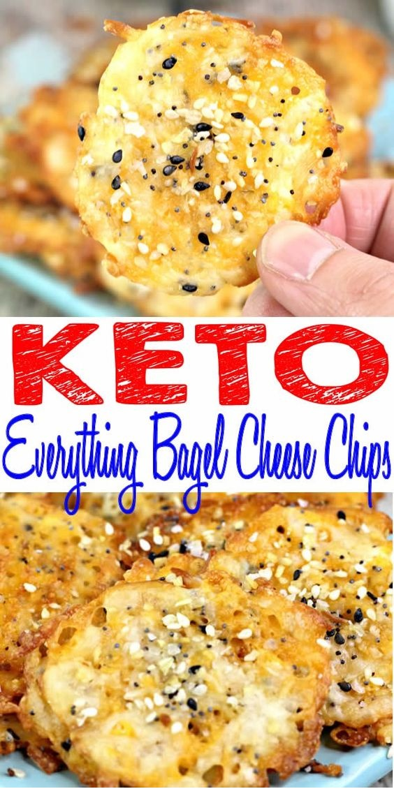 Keto Everything Bagel Cheese Chips