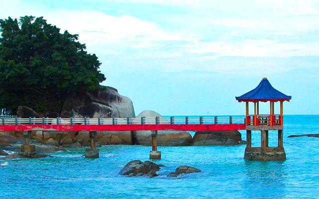 Gambar Pantai Tanjung Pesona Di Bangka Belitung