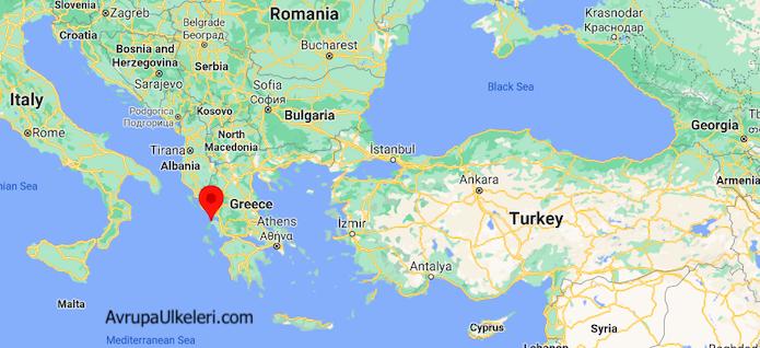 Preveze Yunanistan Harita