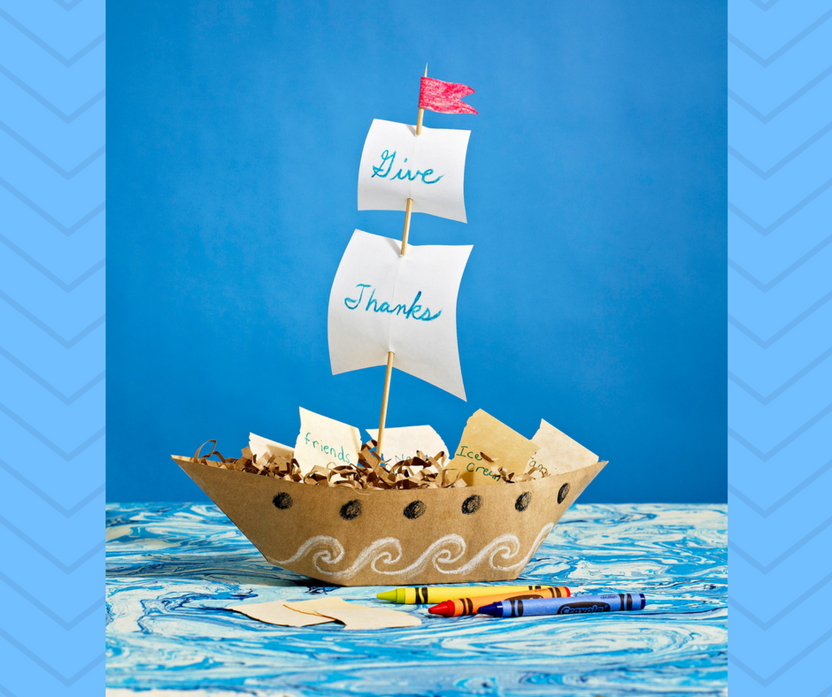Holiday And Remind Us All Of Its Historical Roots Heres A Creative Easy Mayflower Gratitude Boat DIY Thanksgiving Craft Project From FamilyFun