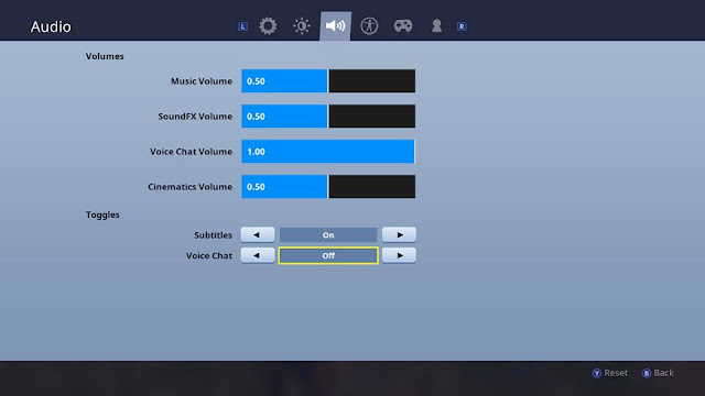 Fortnite Nintendo Switch how to turn voice chat off audio settings