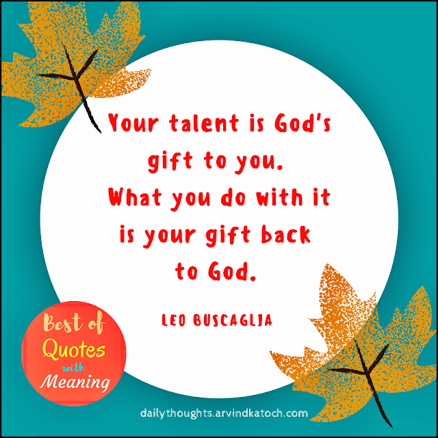 God,Talent, Daily Thought, Meaning,