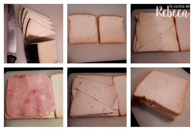 Receta de sándwich mixto o bikini: el montaje