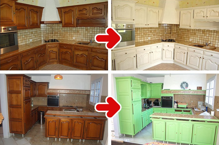 Top decor d co cuisine comment repeindre sa cuisine soi - Comment peindre une cuisine en bois ...