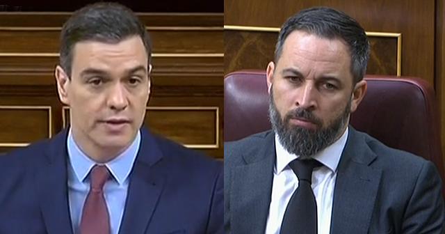 """Sánchez fulmina a Abascal : """"Usted lo que ha venido a decir es que echa de menos algunas formas (de gobierno) ya superadas""""."""