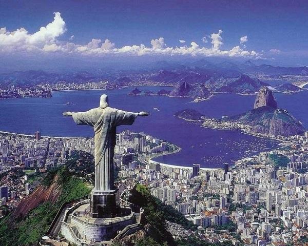 European God Overlooks Brazil
