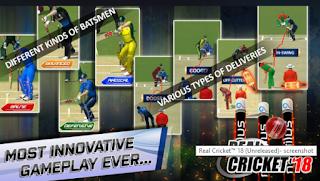 Real Cricket 18 MOD APK Offline