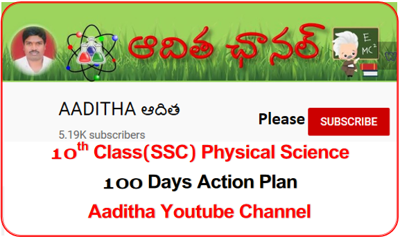 10th Class(SSC) Physical Science - Non-Stop 100 Days Action Plan Youtube Videos Links by Sri M. Adithya Kumar, SA(Phy.Science)(ఆకు) -Aaditha Youtube Channel