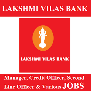Lakshmi Vilas Bank, Bank, Manager, Branch Head, Credit Officer, Graduation, freejobalert, Sarkari Naukri, Latest Jobs, lvb logo