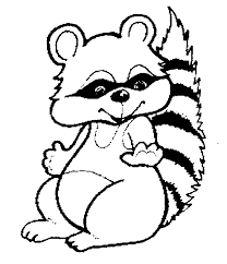 Adorable Racoon Coloring Sheet For Kids