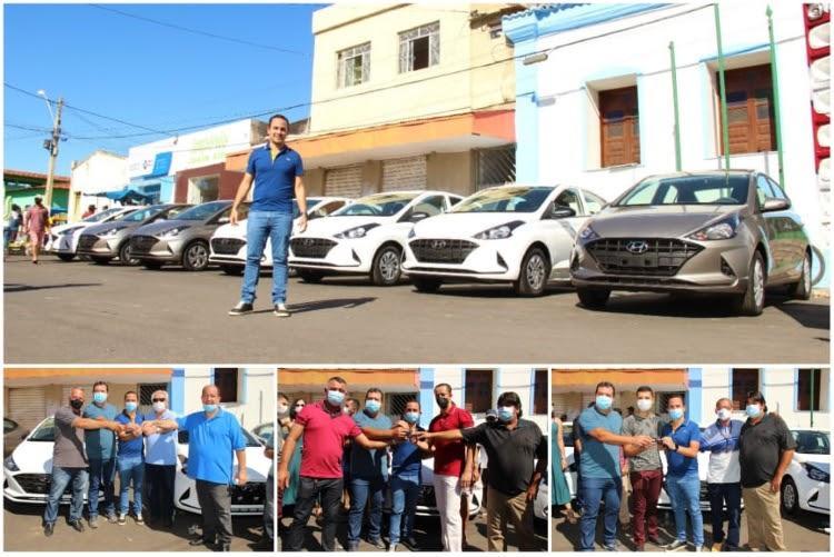 Prefeito de Ituaçu realiza entrega de sete novos veículos para o município