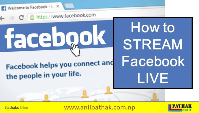 how to stream facebook live