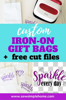 You've heard of adding htv on cardstock but what about on paper gift bags?  Learn step by step how to use iron-on vinyl on paper projects.