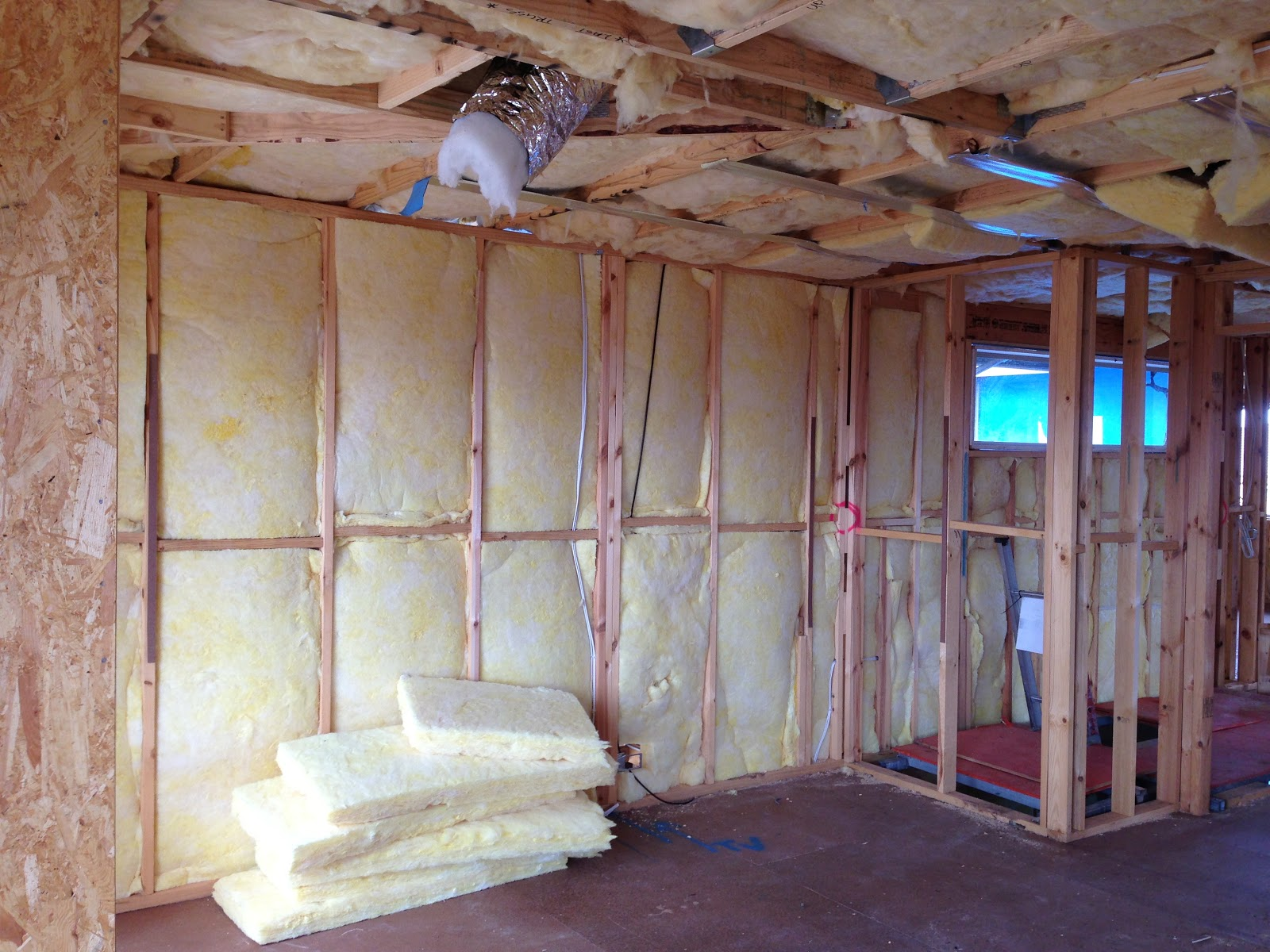 Day 65 Ceiling And Walls Insulation Batts R4 0 For Ceilings R2 Now Completed