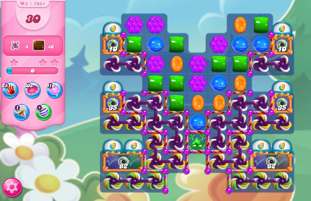 Candy Crush Saga level 7981