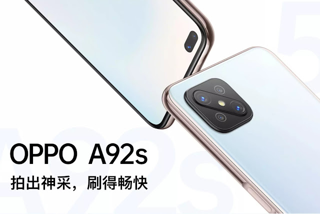 Oppo A92s listed on official website with 120Hz screen and Dimensity 800 chipset.