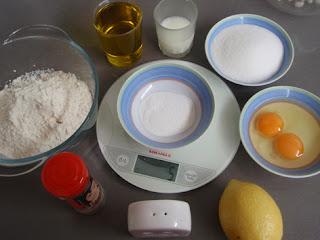 Ingredientes para la elaboración de magdalenas