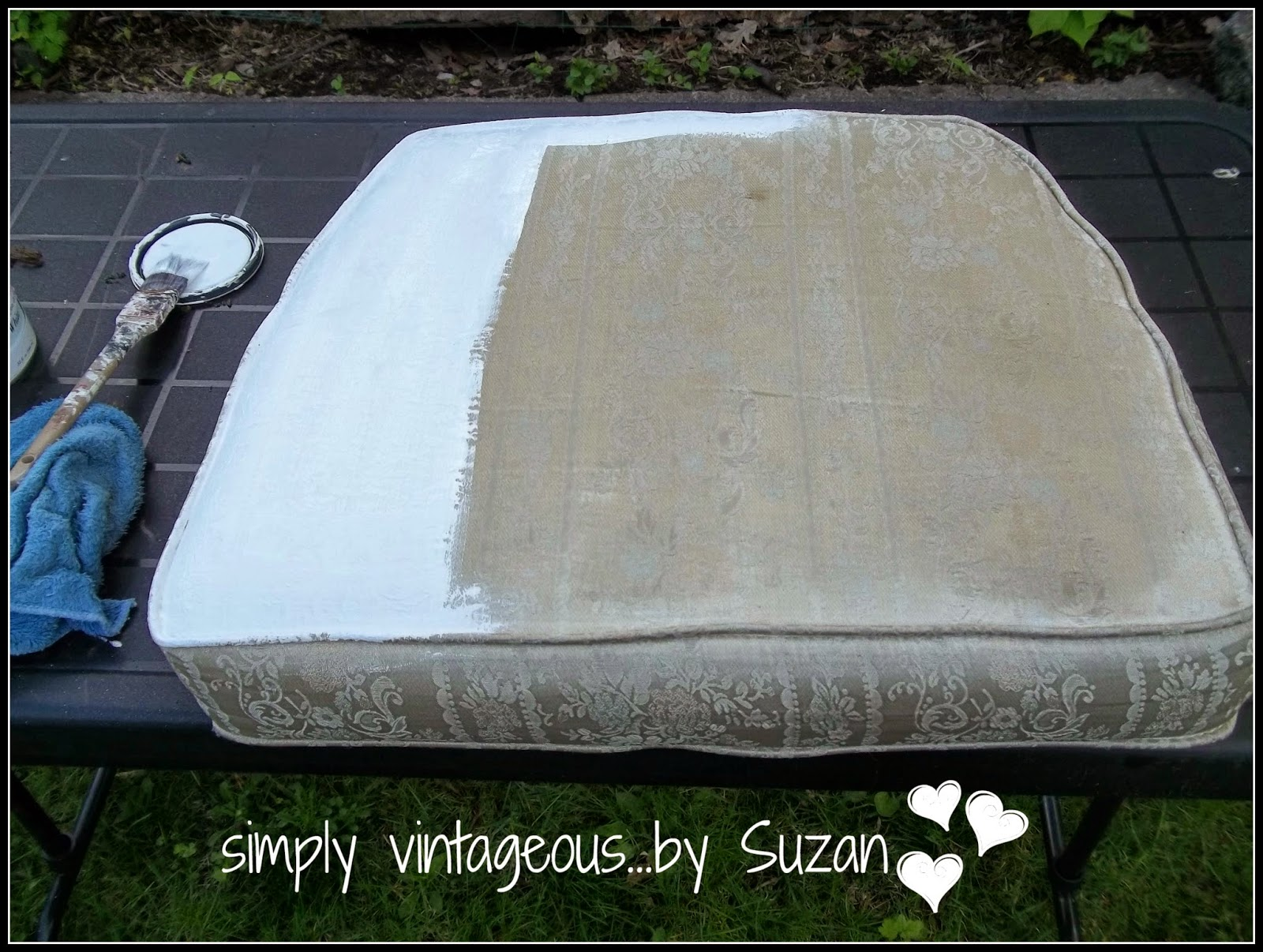 Simply Vintageous By Suzan Painting Regular Furniture To Use Outdoors
