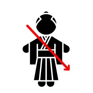 左袈裟斬り(ひだりけさぎり)